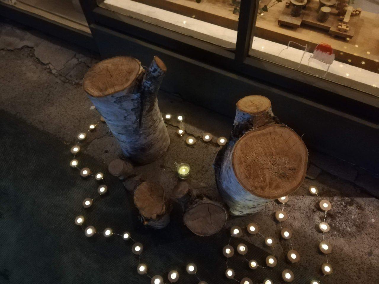 大麻銀座商店街のランタンナイトのイベント。地域との繋がりも再確認しました。